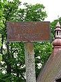 Skrzydlna - stary postój furmanek (tablica) przy kosciele.JPG