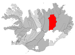 Location of the Municipality of Skútustaðahreppur