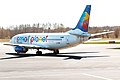 Small Planet Airlines, LY-SPE, Boeing 737-31S (16270692307).jpg