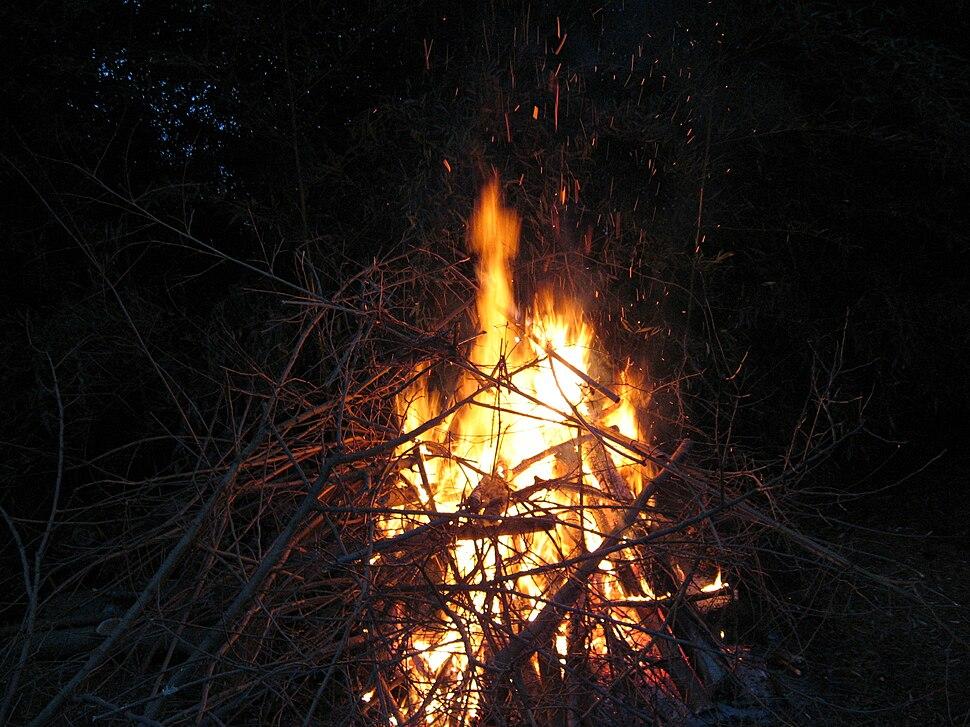 Small bonfire