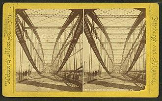 Smithfield Street Bridge - Image: Smithfield St. Bridge, Pittsburg, Pa, from Robert N. Dennis collection of stereoscopic views