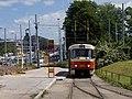 Smyčka Špejchar, Tatra T3M na výstupní pozici.jpg