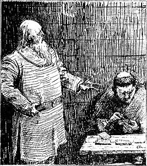 Saga - Snorri Sturluson, portrait by Christian Krohg: Illustration for Heimskringla 1899-Edition