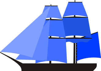 Snow (ship) - Schematic view of Snow, showing the snow-mast, a loose footed gaff sail and clewed up main course.