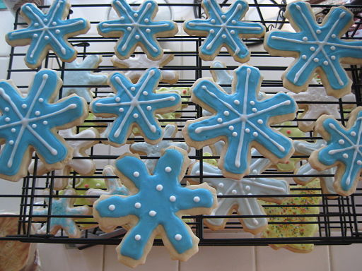 Snowflake Christmas sugar cookies (2), December 2008