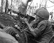 Soldiers Laying Down Covering Fire