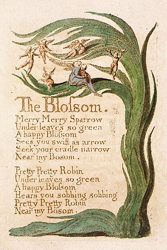 The Blossom - Image: Songs of Innocence, copy B, 1789 (Library of Congress), object 28 The Blossom