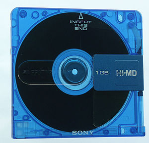 Hi-MD - Sony Hi-MD disc, front view