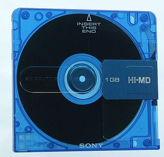 Hi-MD MiniDisc-based magneto-optical media data storage format