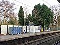 Southbound platform, Bramhall station, January 2021.jpg