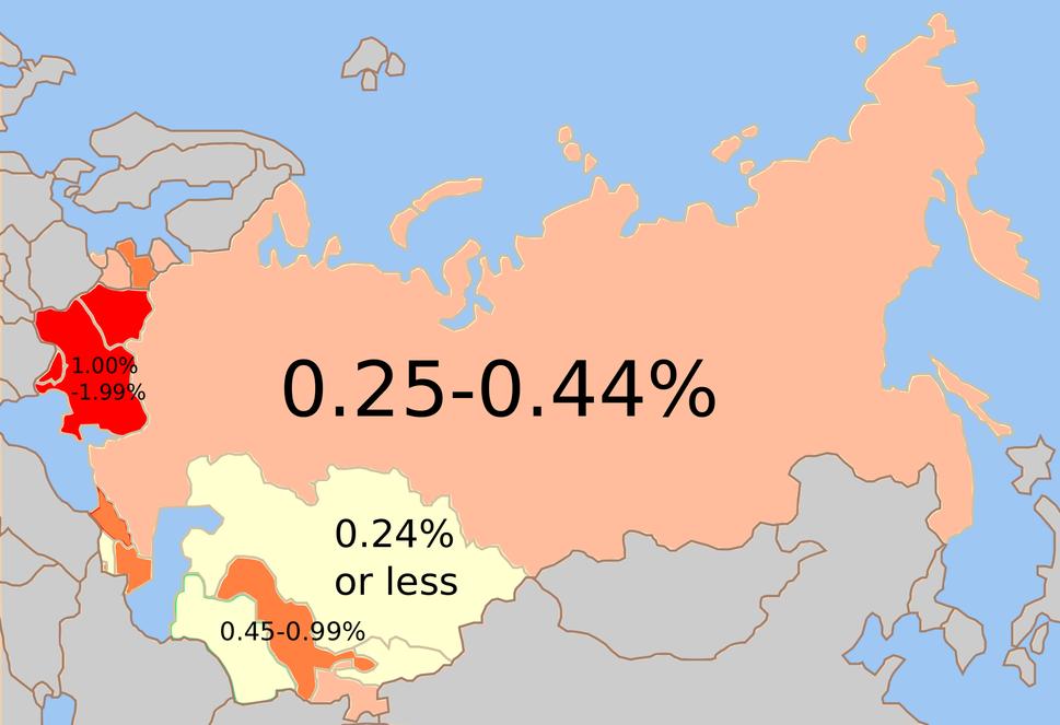 Soviet Jewish % 1989