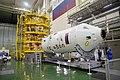 Soyuz MS-11 spacecraft in the integration facility.jpg