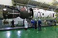 Soyuz TMA-19M spacecraft in the integration facility (2).jpg