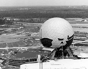 Spaceship Earth (Epcot) - The Alucobond construction, which took over two years to complete.
