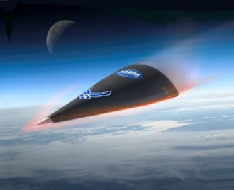 DARPA Falcon Project - Illustration of Hypersonic Test Vehicle (HTV) 2 reentry phase
