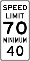 Speed limit 70 minimum 40 sign.svg