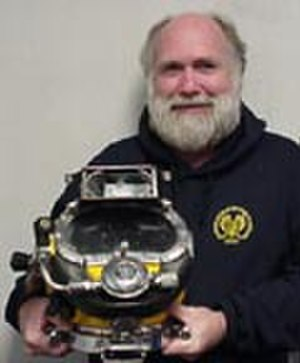 E. Lee Spence - Dr. Spence with KM17 Diving Helmet