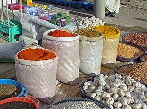 Spice market in Medenine, Tunisia