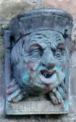 Earl of Oxford's case - Gargoyle of Benedict Spinola, who Magdalene College, Cambridge believed had cheated them out of their land