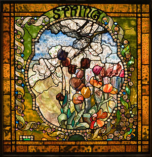 Charles Hosmer Morse Museum of American Art - Spring panel from the Four Seasons window, c. 1899–1900. This panel was on display at Louis Comfort Tiffany's home Laurelton Hall, and is on view at The Charles Hosmer Morse Museum of American Art.