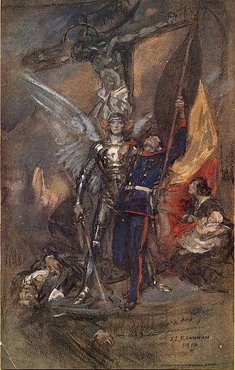 James Jebusa Shannon - St. Michael of Belgium (1914), by J. J. Shannon