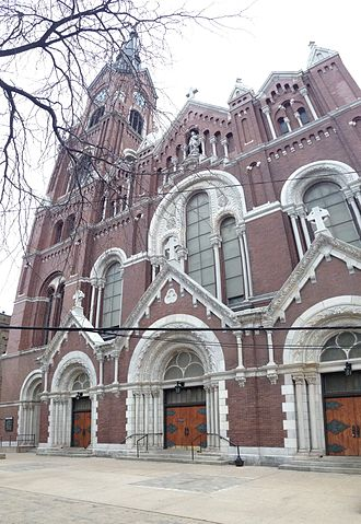 St. Michael's Church, Old Town, Chicago - View of the front of St. Michael's Church