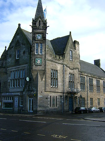 English: St Andrews Town Hall (of 1858-1862), ...