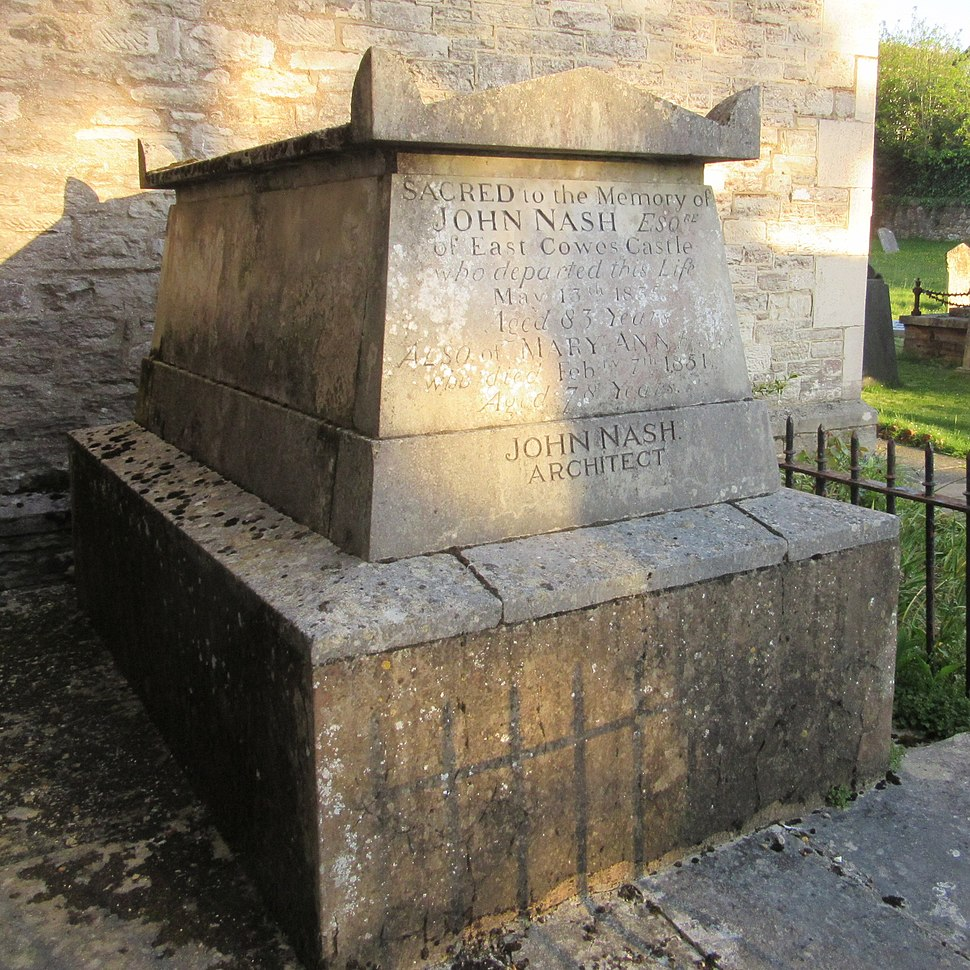 St James's Church, Church Path, East Cowes (May 2016) (Tomb of John Nash) (2)