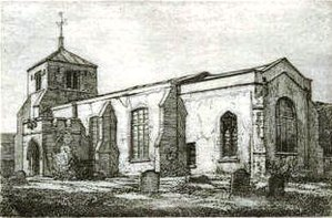 Church of St Katharine, Ickleford - St Katharine's before the alterations of 1859