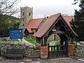 St Mary the Virgin's Church and lychgate at Selattyn, Shropshire.jpg