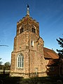 St Michael's Church, Theydon Mount, tower from southwest, Essex, England.jpg