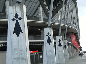 Stade Rennais F.C. - The Hermine symbols outside the Roazhon Park
