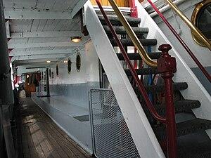 TSS Earnslaw - Image: Stairway TSS Earnslaw