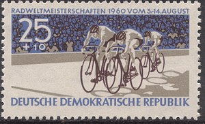 1960 UCI Track Cycling World Championships - Image: Stamp of Germany (DDR) 1960 Mi Nr 780