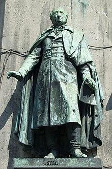 Stein im Reiterstandbild Friedrich Wilhelms III. auf dem Kölner Heumarkt (Quelle: Wikimedia)