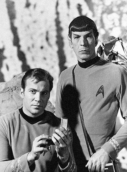 File:Star Trek Shatner Nimoy Kirk Spock.JPG