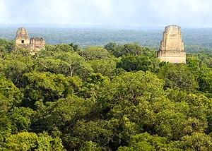 Yavin - The Tikal pyramids in Guatemala