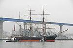 Star of India maneuvers past USS Germantown for refurbishing.jpg