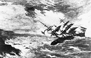 Paleotempestology - The Royal Charter which sank in a storm off Anglesey in 1859.