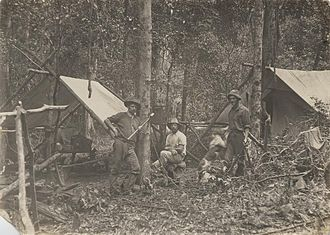 Bunya Mountains - Loggers at their camp in the Bunya Mountains, 1912