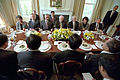 State Lunch with Cheney and Hu Jintao 2002.jpg