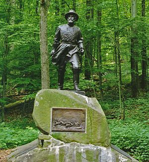 Gettysburg Battlefield - Statue of General Wells by J. Otto Schweizer.