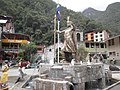 Statue of Pachacutec, Aguas Calientes, Peru.jpg
