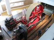 File:Steam engine in Science Museum Power gallery.webm