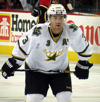 English: Dallas Stars defenceman Stephane Robi...