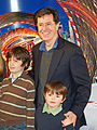 Stephen Colbert with sons Peter and John.jpg