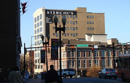 "The Sterchi Lofts building, formerly Sterchi Brothers Furniture store, the most prominent building on Knoxville's ""100 Block"" Sterchi.jpg"