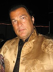 Steven Seagal in a bulletproof...ehhh, some type of fasian garmet