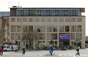 "Århus Stiftstidende - ""Banegårdshuset"", the headquarters of Århus Stiftstidende since 2005."