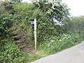 Stile on the footpath to Mennergwidden - geograph.org.uk - 1312685.jpg